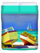 Aruba Boats Duvet Cover
