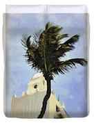Aruba Palm Duvet Cover