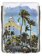 Aruba Palms Two Duvet Cover