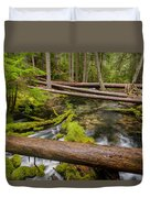 As The Creek Flows Duvet Cover
