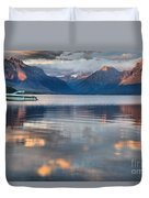 As The Day Ends At West Glacier Duvet Cover