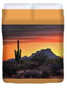 As The Sun Sets On Red Mountain  Duvet Cover