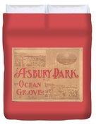 Asbury Park And Ocean Grove Duvet Cover