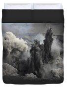 Ash Cloud Eruption On Yasur Volcano Duvet Cover