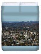Asheville, City, Downtown, Nc, North Carolina, Mountains, Mountains, Real Estate, Blue Ridge Mountai Duvet Cover