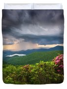 Asheville North Carolina Blue Ridge Parkway Thunderstorm Scenic Mountains Landscape Photography Duvet Cover