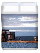 Ashland Ore Dock At Sunset Duvet Cover