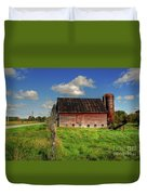 Ashtabula County Barn Duvet Cover by Tony  Bazidlo