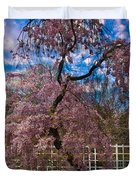 Asian Cherry In Blossom Duvet Cover