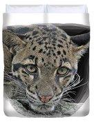 Asian Cloud Leopard Duvet Cover