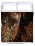 Asian Elephant Closeup Portrait Duvet Cover