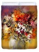 Asian Flowers Duvet Cover