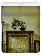 Asian Furniture And Bonsai Duvet Cover