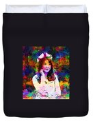 Asian Girl With Crown  Duvet Cover