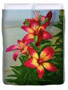 Asian Lilly Spring Time Duvet Cover