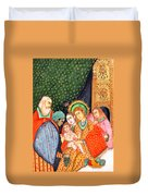 Asian Nativity Duvet Cover