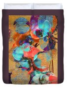 Asian Orchid Abstract Duvet Cover