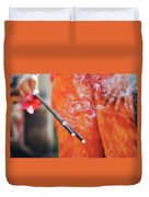 Asian Woman Holding Incense Sticks During Hindu Ceremony In Bali, Indonesia Duvet Cover