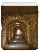 Asklepios Temple Passageway Duvet Cover