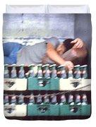 Asleep On The Job Duvet Cover