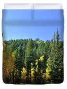 Aspen And Cottonwood In Concert Duvet Cover by Ron Cline