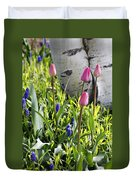 Aspen And Tulips Duvet Cover