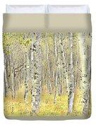 Aspen Forest 2 - Photo Painting Duvet Cover