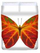 Aspen Leaf Butterfly 2 Duvet Cover