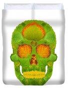 Aspen Leaf Skull 10 Duvet Cover