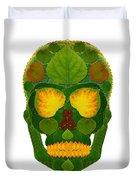 Aspen Leaf Skull 9 Duvet Cover