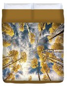 Aspen Tops Towards The Sky Vintage  Duvet Cover