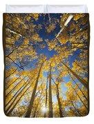 Aspen Tree Canopy 3 Duvet Cover
