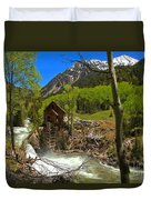 Aspens Around The Crystal Mill Duvet Cover