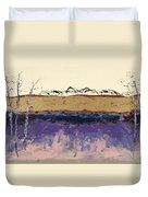 Aspens In Winter Duvet Cover