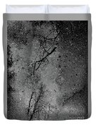 Asphalt-water-tree Abstract Refection 03 Duvet Cover