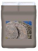 Ass Rock New Mexico Duvet Cover