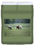 Assateague Island - Wild Ponies And Their Buddies  Duvet Cover
