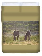 Assateague Island Wild Ponies Duvet Cover