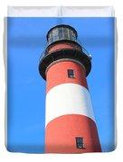 Assateague Lighthouse Abstract Duvet Cover