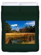 Assateague Lighthouse Reflection Duvet Cover
