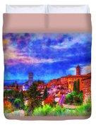 Assisi At Dusk 2 Duvet Cover