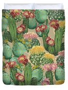 Assorted Blooming Cactus Plants Duvet Cover