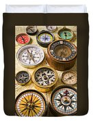 Assorted Compasses Duvet Cover