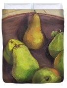 Assorted Pears Duvet Cover