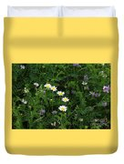 Aster And Daisies Duvet Cover