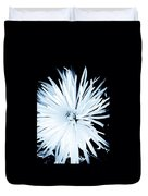 Aster In Black And White Duvet Cover