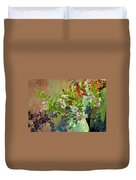 Aster Wildflowers Duvet Cover