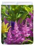 Astilbe In The Garden Duvet Cover