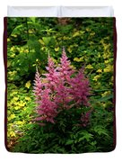 Astillbe In Light And Shadow Duvet Cover