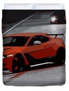 Aston Martin Vantage Gt12 Duvet Cover
